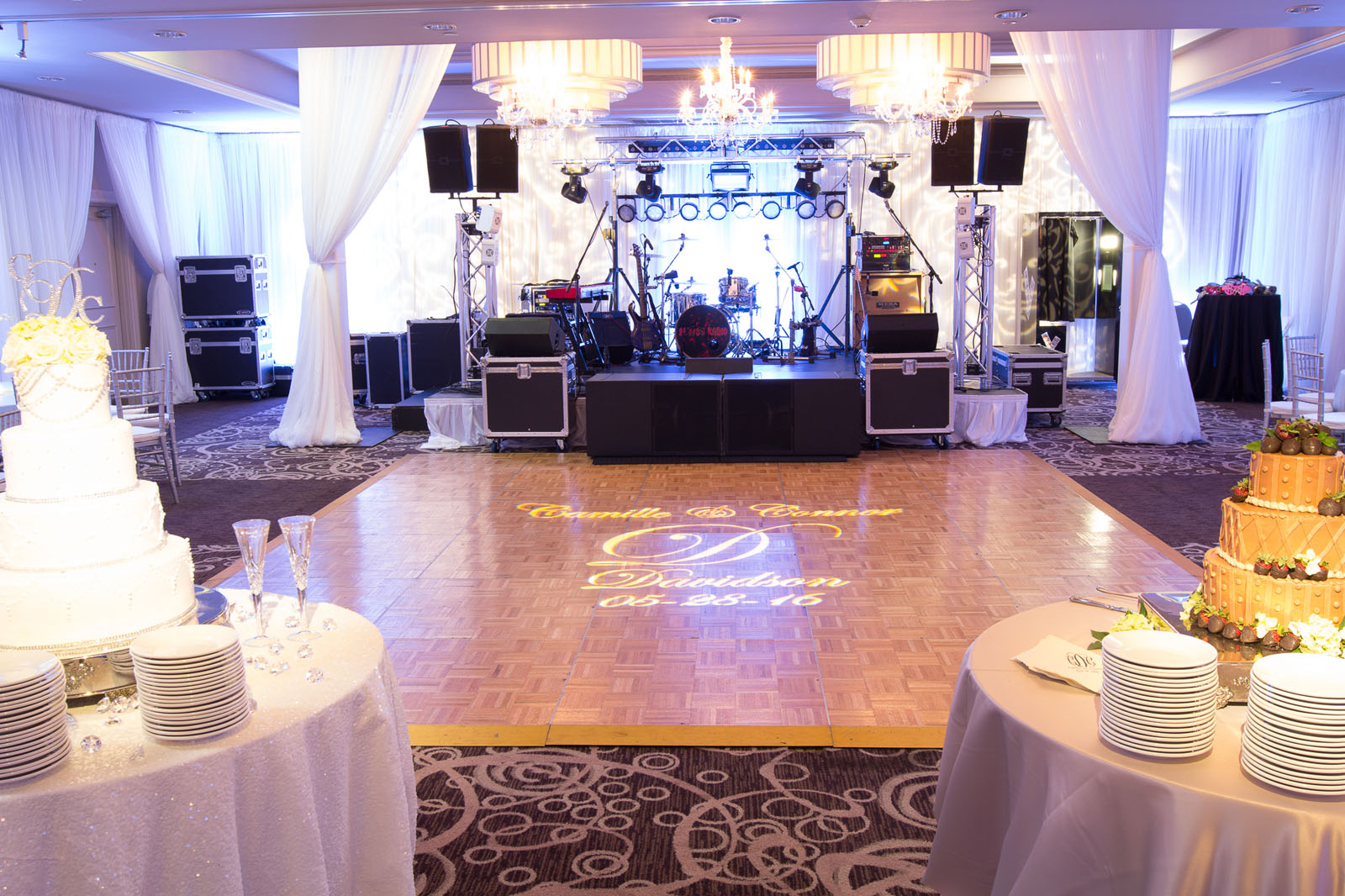 Dance floor at our Tuscaloosa wedding venue